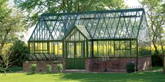 Victorian Manor Greenhouse - 27 by ft by Hartley Botanic Outdoor Greenhouse, Large Greenhouse, Backyard Greenhouse, Greenhouse Plans, Homemade Greenhouse, Greenhouse Wedding, Rustic Greenhouses, Victorian Greenhouses, Traditional Greenhouses
