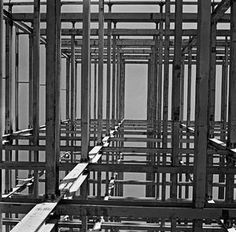 MARCEL GAUTHEROT. Detail of the metal structure of the ministries, Brasília, DF. Brazilcirca 1958