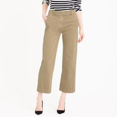 Cool shorts alternatives: Chino culotte pants from J.Crew