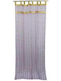 Mogulinterior Curtains Sheer Panels Purple Silver Stripes Gold tabs Window Treatment Set of 2 Indian Curtains, Sheer Curtains, Drapery, Moroccan Decor, Boho Decor, The Ordinary, Window Treatments, Living Room Decor, Art Pieces
