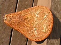 tooling leather   Custom Leather Motorcycle Seat