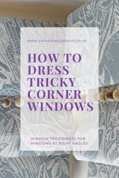Got two windows in a corner and not sure what to do for window treatments? If you don't want curtains at your tricky corner windows, bespoke pelmets and matching roman blinds are a great way to give the room a sophisticated, consistent look without blocking out too much daylight. #Curtain #RomanBlinds #Pelmets #CornerWindow #AwkwardWindows #TrickyWindows