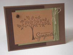 Sympathy Tree by stamping chick - Cards and Paper Crafts at Splitcoaststampers