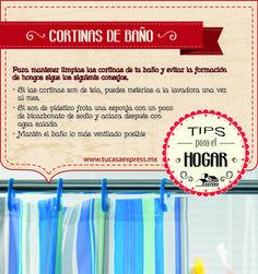 #TipsExpress para que la limpieza de las cortinas de baño no sea un fastidio.