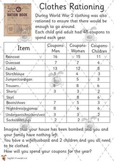 Teacher's Pet - WWII Rationing Activities - Premium Printable Game / Activity - EYFS world war two 2 rations wwii food. Ks2 Classroom, History Classroom, History Teachers, Teaching History, Classroom Activities, 6th Grade Social Studies, Teaching Social Studies, School Resources, Game Resources