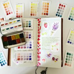 Today has been the day for making colour charts. I had no idea that from ten colours you could make so many- and I've still a way to go. Watercolor Journal, Watercolor Cards, Watercolor Paintings, Watercolors, Watercolor Pallet, Color Studies, Watercolour Tutorials, Make Color, Photo Instagram
