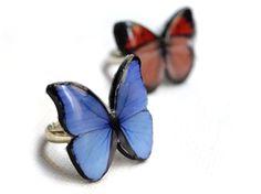 Anillo mariposa azul / Claudia Raffa - Bisutería Artesanal - Artesanio