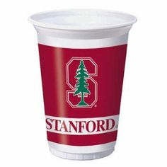 Stanford 20 oz. Plastic Cups 8 Pack by Creative Converting. $5.99. Design is stylish and innovative. Satisfaction Ensured.. Manufactured to the Highest Quality.. From the Stanford University Party Supply Collection. Stanford Party Cups. Show your true colors with these tailgate party cups. Featuring authentic cardinal red and white team colors and Stanford team logo. Includes 8 plastic cups that hold 20 ounces.