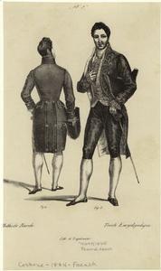 mens' formal dress, 1834