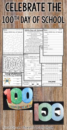 100 Days of School have passed so quickly!  Have fun celebrating all that your students have learned with these fun 100th Day of school activities. There are plenty of Reading, Writing, and Math activities that can be used as independent centers or whole group. Click the Visit Button to see all of the resources in this product.