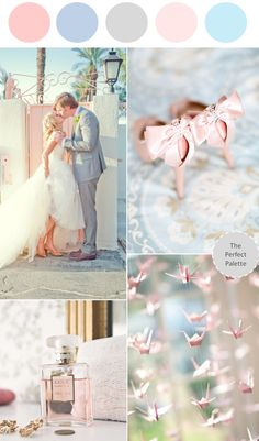 Color Story: Blush + Blue - www.theperfectpalette.com - Reader Request!