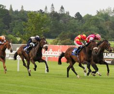 """General Brook and Wayne Lordan getting up to beat Long Journey Home (Connor King) with Artful Artist (Chris Hayes) in """"The Leopardstown Summer Music and Racing Festival Handicap"""" at Leopardstown - Alain Barr - 12.06.2014"""