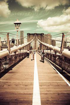 Brooklyn Bridge - New York City   http://www.travelandtransitions.com/our-travel-blog/new-york-boston-2011/new-york-city-travel-discoveries-in-brooklyn/