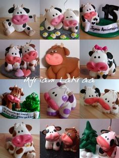 Mes vaches en pâte polymère fimo (polymer clay) - Myriam Lakraa Créations