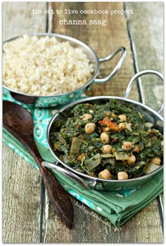 Healthy Girl's Kitchen: The Eat to Live Cookbook Project: Channa Saag