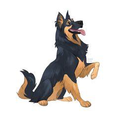 Animal Sketches, Art Drawings Sketches, Animal Drawings, Dog Drawings, Art And Illustration, Cute Dog Drawing, Cartoon Dog Drawing, Cartoon Pets, Desenhos Cartoon Network