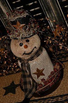 Jar snowman