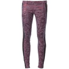 Faith Connexion Stretch Cotton Blend Clique Skinny Trousers ($560) ❤ liked on Polyvore featuring pants, capris, burgundy, cotton stretch pants, skinny trousers, faith connexion, skinny pants and purple skinny pants
