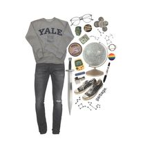 """""""OC - Hayden"""" by planaetary ❤ liked on Polyvore featuring Dsquared2, S.W.O.R.D., Zippo, Sharpie and Stefanie Sheehan Jewelry"""
