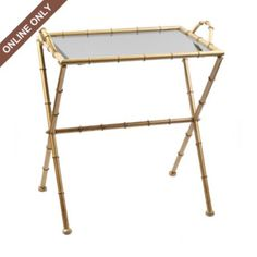 faux bamboo tray table- so affordable!