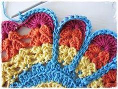 Etter at flere har ønsket seg denne oppskriften har jeg etter nøye overveielse bestemt meg for å legge den ut her på bloggen min. Den komme... Crochet Motifs, Crochet Potholders, Crochet Blocks, Crochet Squares, Crochet Stitches, Crochet Patterns, Crochet Home, Knit Or Crochet, Crochet Crafts