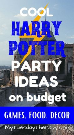 Harry Potter Party On Budget. Ideas for games, food and decorations. Easy Party Games, Birthday Party Games For Kids, Teen Party Games, Kid Party Favors, Sleepover Party, Teen Birthday, Harry Potter Party Games, Harry Potter Activities, Harry Potter Party Decorations