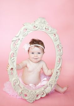 Ours. 9 month old session with our new to us garage sale find mirror frame! photography-inspiration