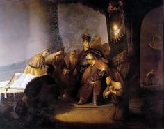 Rembrandt, Judas Returning the Thirty Silver Pieces