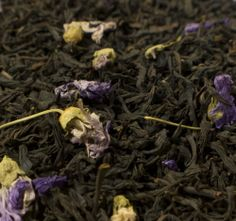 Lilac Black Tea  A lovely, flowery spring black tea with lilacs added. Make it your Mother's Day choice..!  Ingredients: premium black teas from Highland China blended with Lilac flowers