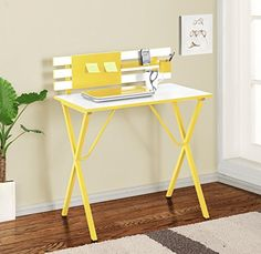 Kings Brand Furniture Kids Childrens Computer Writing Desk Yellow *** Check out this great product.