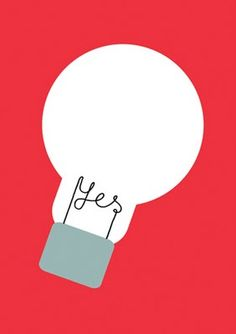 poster, print, bright idea, work, school, creative, light bulb