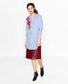 SHIRT DRESS WITH PATCH-DRESSES-WOMAN | ZARA United States
