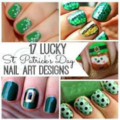 I love these 17 St. Patrick's Day Nail Art Designs. So cute!