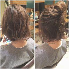 【HAIR】 La coiffure de Hikawa Hirakawa saute (ID: . Curly Hair Styles, Messy Short Hair, Hair Arrange, Aesthetic Hair, Short Bob Hairstyles, Love Hair, Hair Looks, Hair Lengths, Hair Inspiration