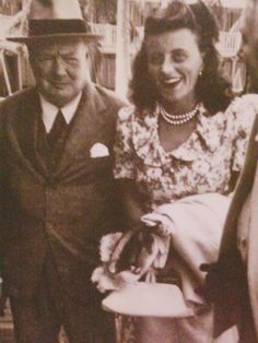 With Winston Churchill around 1940 ♡❀❁❤❁❤❁❤❁❤❁❤❀♡ http://en.wikipedia.org/wiki/Kathleen_Cavendish,_Marchioness_of_Hartington http://en.wikipedia.org/wiki/Winston_Churchill