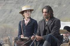 "PRESSING: Big-city reporter Louise Ellison (Jennifer Ferrin) has some questions for Cullen Bohannan (Anson Mount) in the Season 3 premiere of ""Hell on Wheels."""