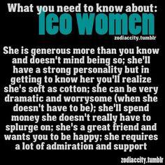 A Leo woman