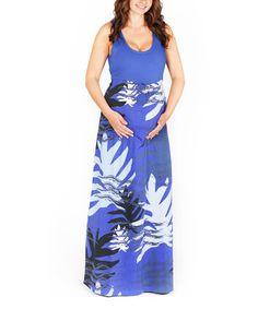 Loving this Karied Away Blue Shadow Martina Maternity Maxi Dress on #zulily! #zulilyfinds