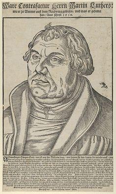 Martin Luther, Bust to the Left Artist: Lucas Cranach the Elder (German, Kronach 1472–1553 Weimar) Date: 1551 Medium: Woodcut