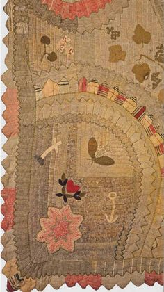 Wool Applique Quilt, 1830. New England. Classic Quilts from the American Museum in Britain.
