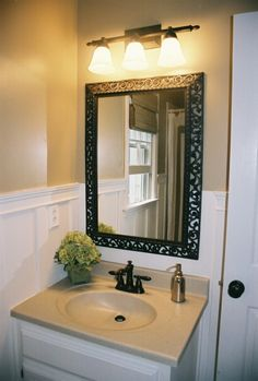 A bathroom update on a budget.
