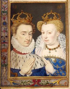 Marguerite and Henri de Navarre, depicted in Catherine de Medici's book of hours. Photo: Musée Louvre.