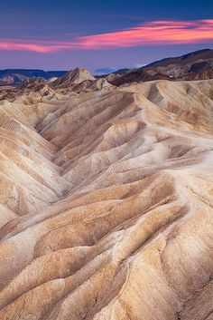 Zabriskie Point, Death Valley National Park, California........Been there, it's kind of like the dark side of the moon and yet, beautiful!
