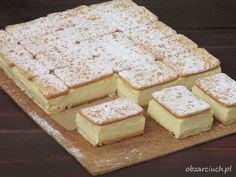 pl :: Napoleonka w 15 minut Dessert Drinks, Fun Desserts, Delicious Desserts, Yummy Food, Kolaci I Torte, Sandwiches, Ice Cream Cookies, Cake Bars, Polish Recipes
