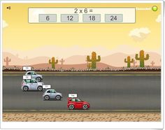 Road Rally Multiplication (Multiplication.com)
