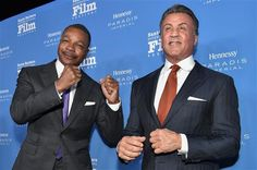 Carl Weathers supports Sylvester Stallone as he's honored with the Montecito Award at the 31st annual Santa Barbara International Film Festival on Feb. 9, 2016