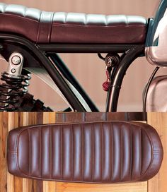 Cool Ribbed leather seat