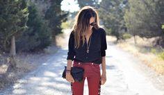 Styleheroine in Isabel Marant trousers, Bottega Veneta clutch bag and Chrome hearts necklace