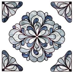 Capri Slate Medallion Decorative Window Film 02 3719 The Home Depot
