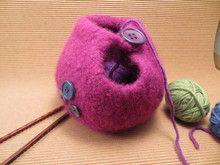 Yarn Bowls gestrickfilzt